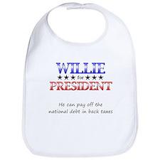 Willie For President Bib