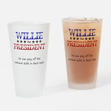 Willie For President Pint Glass