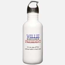 Willie For President Sports Water Bottle