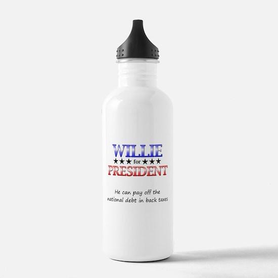 Willie For President Sports Water Bottle
