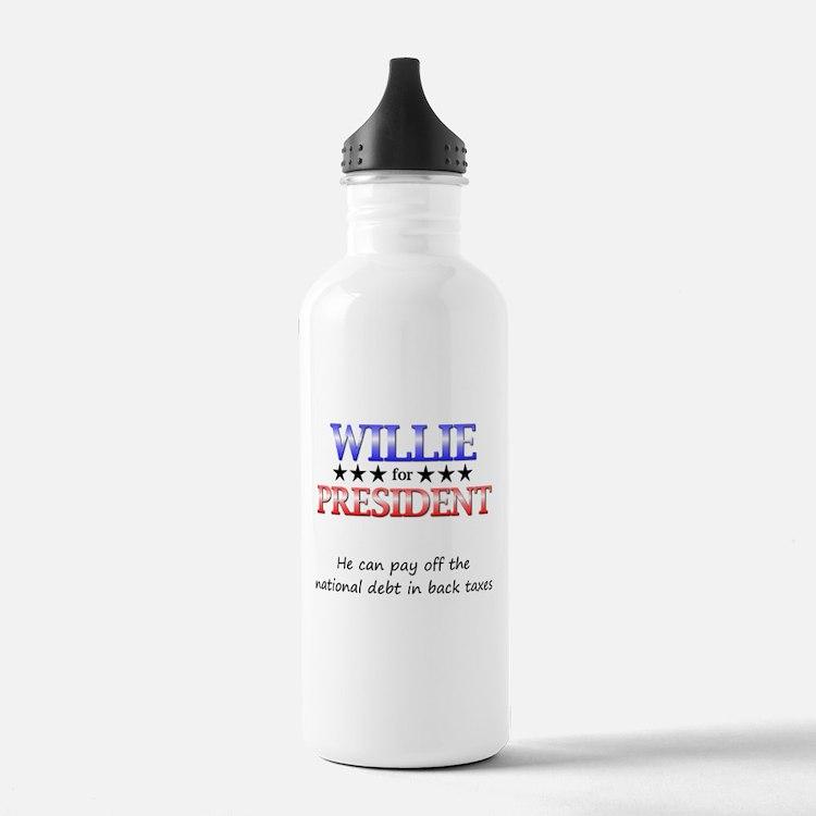 Willie For President Water Bottle
