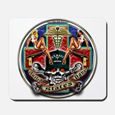 USN Navy Corpsman HM Skull Mousepad