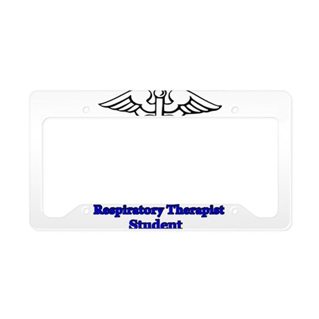 Respiratory Therapy Student License Plate Holder