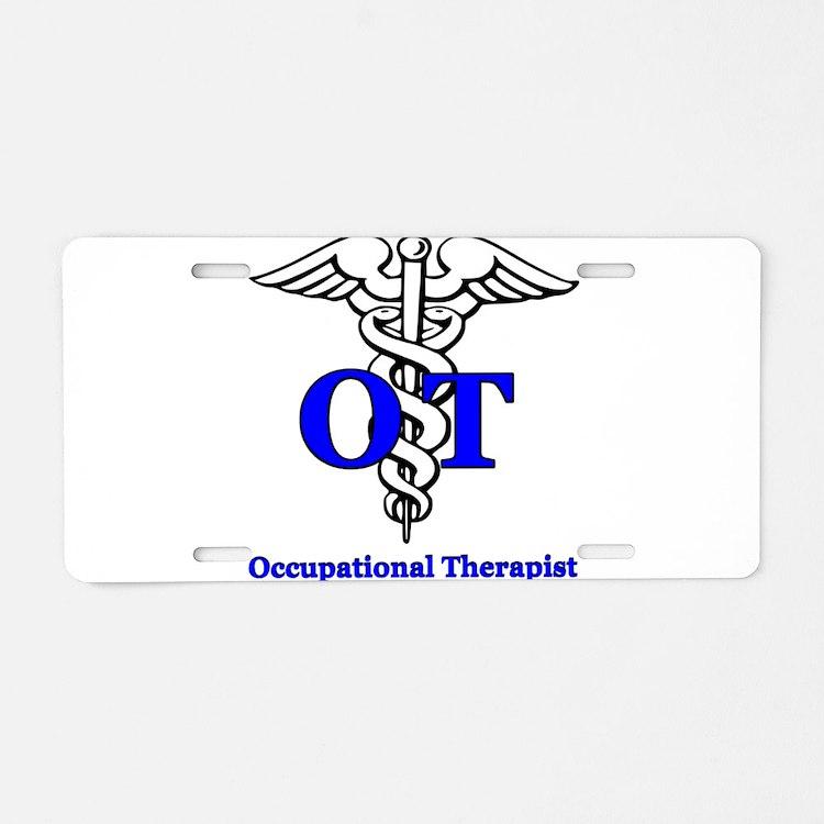 Cute Occupational therapists Aluminum License Plate