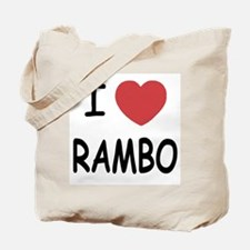 I heart rambo Tote Bag