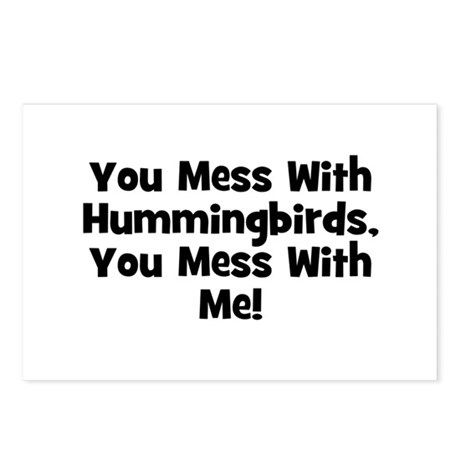 You Mess With Hummingbirds, Y Postcards (Package o