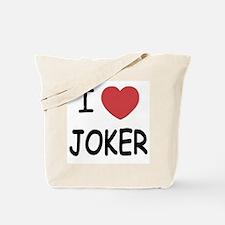 I heart joker Tote Bag