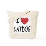 I heart catdog Tote Bag