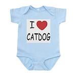 I heart catdog Infant Bodysuit