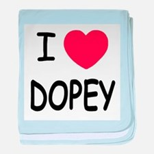 I heart dopey baby blanket