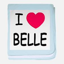 I heart belle baby blanket