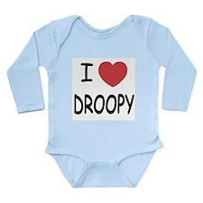 I heart droopy Long Sleeve Infant Bodysuit