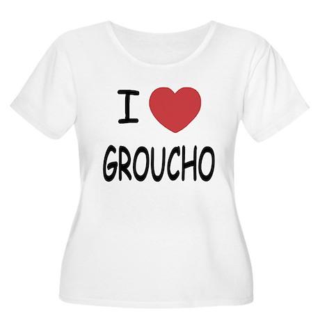 I heart groucho Women's Plus Size Scoop Neck T-Shi