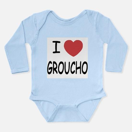 I heart groucho Long Sleeve Infant Bodysuit