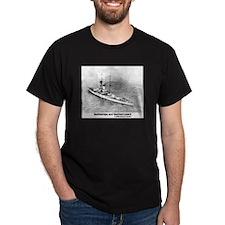 Battleships and Battlecruiser Black T-Shirt