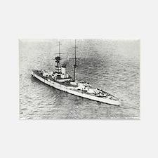 Battleships and Battlecruiser Rectangle Magnet