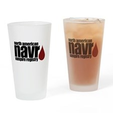 North American Vampire Registry Drinking Glass