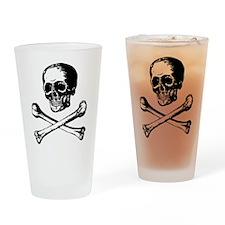 Masonic Skull and Crossbones Pint Glass