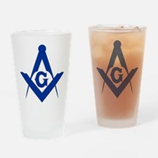 Masonic Square and Compass Drinking Glass