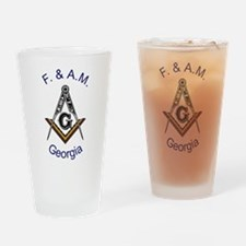 Georgia Square and Compass Pint Glass