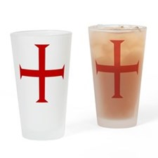 Knights Templar Cross Pint Glass