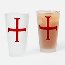 Knights Templar Cross Pint Glass