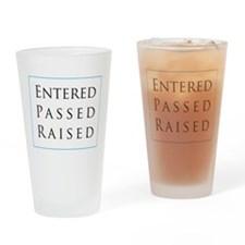 Entered Passed Raised Pint Glass