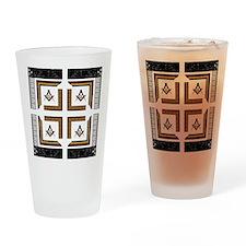 Square Design No. 3 Pint Glass