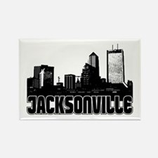 Jacksonville Skyline Rectangle Magnet
