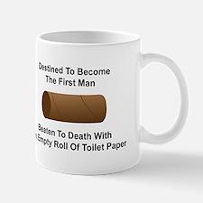 Man Beaten with Toilet Paper Roll Mug