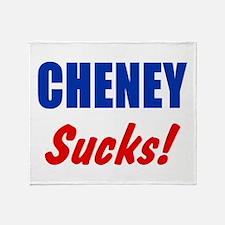 Cheney Sucks Throw Blanket