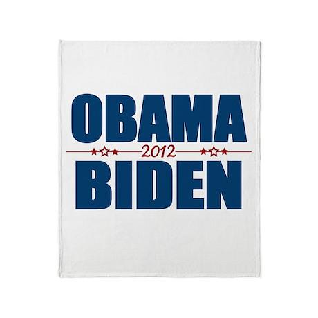 Obama Biden 2012 Throw Blanket