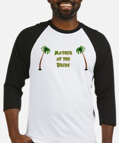Tropical Mother of the Bride Baseball Jersey