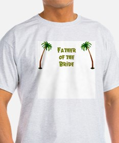 Tropical Father of the Bride Ash Grey T-Shirt