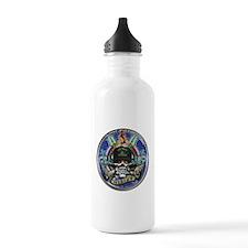 USN Navy Veteran Skull Flag Water Bottle
