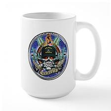 USN Navy Veteran Skull Flag Mug