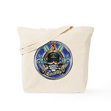 USN Navy Veteran Skull Flag Tote Bag