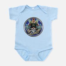 USN Navy Veteran Skull Flag Infant Bodysuit