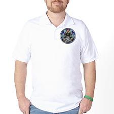 USN Navy Veteran Skull Flag T-Shirt