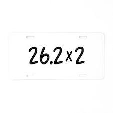 26.2 x 2 Aluminum License Plate