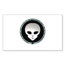 Alien Roundabout Rectangle Decal