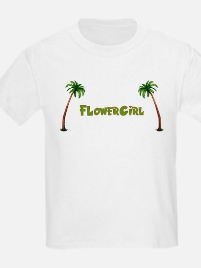 Tropical Flowergirl Kids T-Shirt