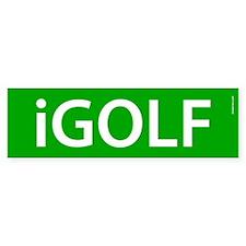 iGolf Bumper Bumper Sticker