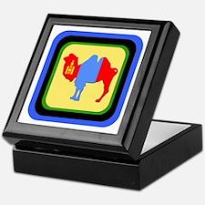 Mongolian Camel Flag - 4- Keepsake Box