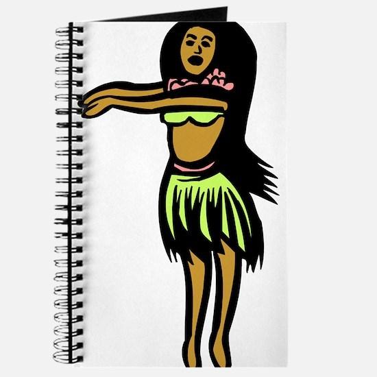 Hula Hula Girl Journal