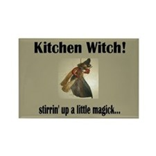 """""""Kitchen Witch"""" Rectangle Magnet"""