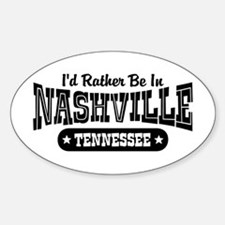 Nashville Tennessee Sticker (Oval)