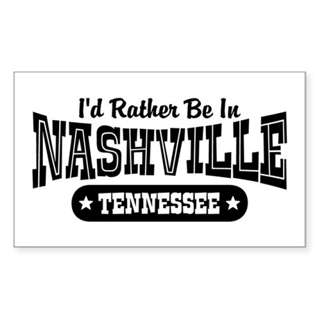 Nashville Tennessee Sticker (Rectangle)