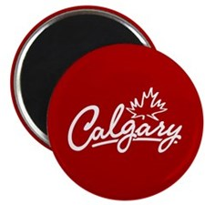 Calgary Leaf Script Magnet