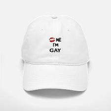 Kiss Me I'm Gay Baseball Baseball Cap